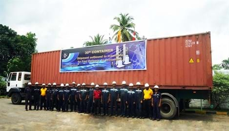 30th Container Shipment of UFM's for Indonesia