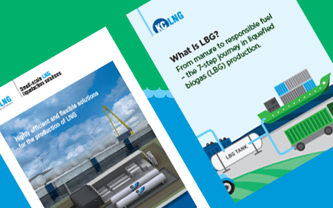 image of two KC LNG brochures
