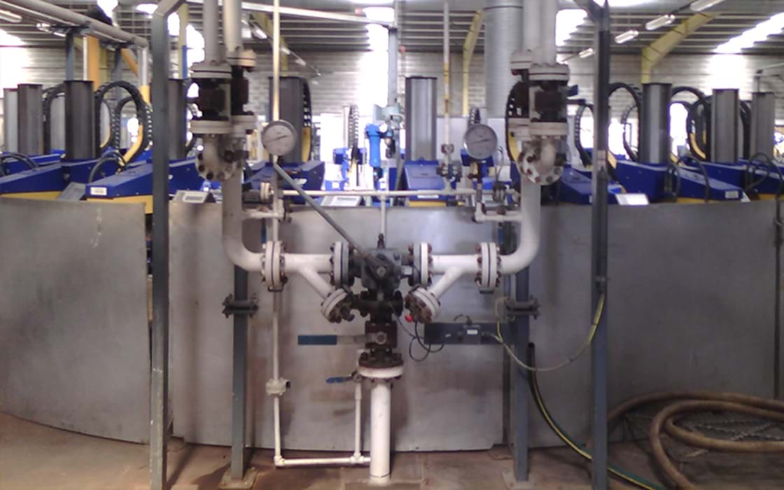 Inline LPG mixing solution