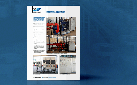 image of productsheet: Kosan Crisplant's Electrical installations